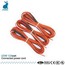 12K 12meters 122W 33ohm carbon fiber heating wire Heating cable Connected power cord Low cost silicone rubber heating wire