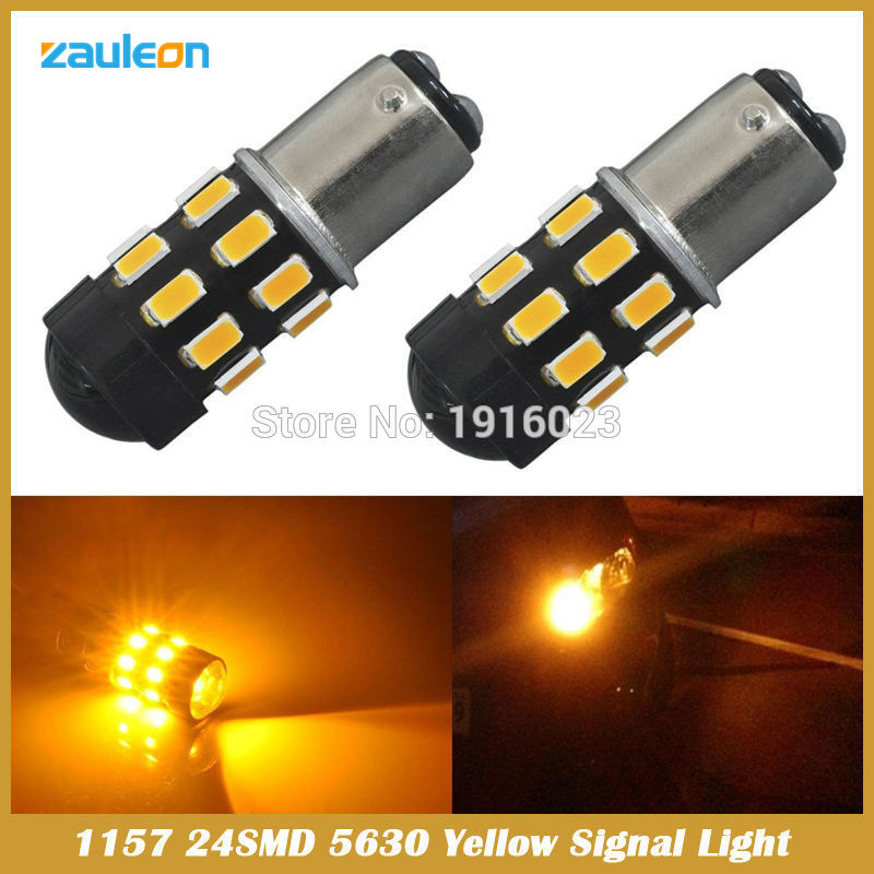 1156 1157 BA15S BAY15D BAU15S High Power 24SMD 5630 Chip LED Yellow Amber Front Turn Signal car styling Lights Bulbs<br><br>Aliexpress