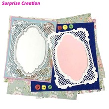 Surprise Creation Cutting dies Luxury Lattice Frame Scrapbook Craft Frame Dies DIY Stencil(China)