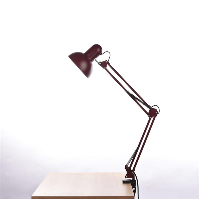 Geruite Schreibtischlampe Flexiblen Led Lampe Büro Führte Tischleuchte Metall Architekten Verstellbare Falten Leselicht Lampen & Schirme
