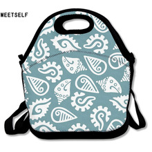 MEETSELF 3D Print Conch Pattern Lunch Bags Insulated Waterproof Food Bag Girl Packages Womens Kids Babys Boys Handbags(China)