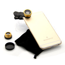 Portable Fish Eye Lens Micro Wide Angle Lens for Apple for iPhone for Samsung Fisheye Lens for Mobile Phones