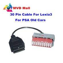 Work With Lexia 3 Diagnostic Interface 30pin Cable 30 Pin Adapter Connect Lexia3 PP2000 With Old Cars For Peugeot/Citroen