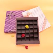 25 Holes Bowknot Rectangle Chocolate Case Paper Event Supplies Candy Box Chocolate Paper Box Valentine Gift wedding favor 3