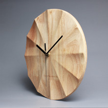 PINJEAS Brief 12 Inch Wood Living Room Big Round Decor Wall Clocks Creative Modern Silent Quartz Clocks Bedroom Wall Decoration