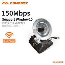 COMFAST 150Mbps WiFi Adapter 10dBi High Power Radar Antenna Wifi Amplifier 802.11n USB Wireless signal PC WIFI Receiver WU770N(China)