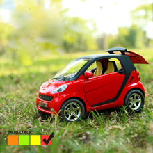 New Smart Fortwo Pull back Car Model 1:32  Original Alloy Car Models Baby Toy Educational Pull Back Gifts For Boys