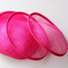 "Free shipping 8""/20cm hot pink sinamay fascinator base/ sinamay hair accessories,DIY hair accessories 12pieces/lot MYQH018H"