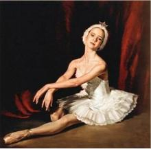 "Art Repro oil painting:""Dance Ballet Girl at canvas"" 24x36 Inch(China)"