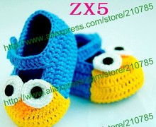 80pairs/lot Free shipping,Multi styles Crochet baby handmade shoes knit infant booties 100% cotton 0-12M cotton custom(China)