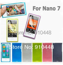 Free shipping 2pcs/lots High Quality Candy Color Soft TPU Silicone Case for Apple iPod Nano 7