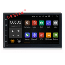 Free shipping built-in map software 2 din Universal 7 inch full touch screen with support radio Ipod Bluetooth mirror link(China)