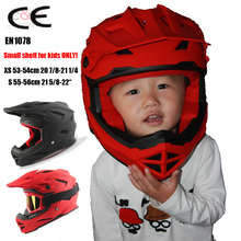 Nikko N42 kids helmets ALLTOP Downhill Mountain Bike Bicycle BMX Helmet DH MTB Full Face CE casco capacetes can wear goggles
