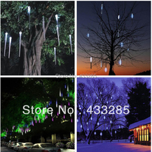 Free shipping 10pcs a set double-sided LEDchristmas light decoration LED Snow fall tube snowing led raining tube led meteor tube