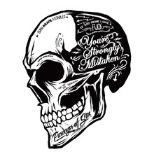 Black White Skull Cool Motorcycle Stickers Moto Decals helmet Sticker on Car styling on Fuel tank Window Decoration for BMW VW
