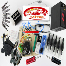 Professional Tattoo Kits Top Artist Complete Set 2 Tattoo Machine Gun Linering And Shading Tattoo Inks Power Needles PTK-916-60F