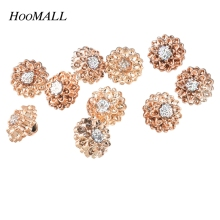 Hoomall Brand 12mm AB Color Rhinestone Buttons 100PCs Plastic Buttons Sewing Scrapbooking Shank Buttons Sewing Accessories(China)