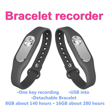 Fashion Colorful Wearable Wristband Sports Bracelet Portable 4GB One Button Long Time Audio Video Record Digital Voice Recorder