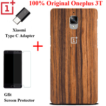 Genuine Oneplus 3 3T Case Bamboo Rose Wood Cover Original One plus 3 Case Synthetic Fiber With Xiaomi Type C Protective Shell