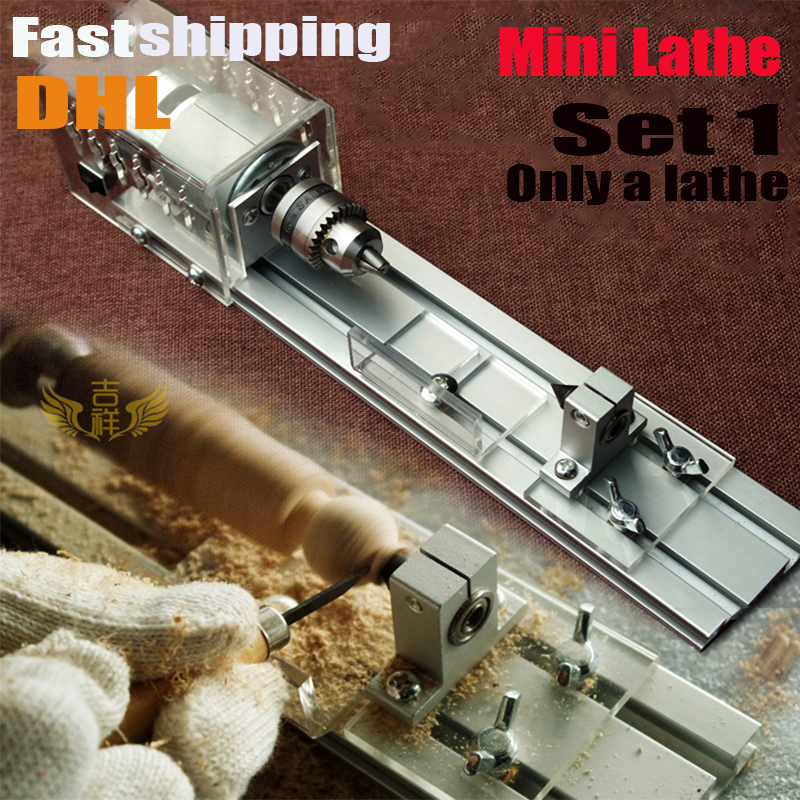 DIY Wood Lathe Mini Lathe Machine Polisher Table Saw for polishing Cutting,metal mini lathe/didactical DIY lathe fastship by DHL<br>