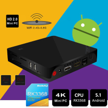 Beelink i68 Smart TV Box UHD 4K Mini PC H.265 Android 5.1 Octa Core RK3368 2.4G 5.8G WiFi Set top TV