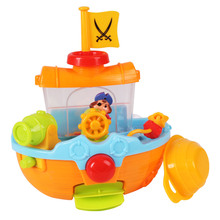 New arrive Bath Toy   Infants and children play in the water bath toys Large Pirate Ship swimming water flower educational toys