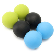 Silicone Double Lacrosse Ball Mobility Myofascial Trigger Point Yoga Massage Messager Ball Gym Fitness Ball For Body Building(China)