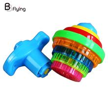 Flashing Gyro Spinning Top Toys Bouncing Gyroscopes Hand Spinner Kids Amusement(China)