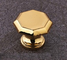 10Pcs/lot Gold drawing of gold European classical knob drawer cabinets wardrobe door handle(China)