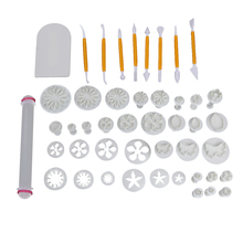 68pcs/set Fondant Plunger Sets Cake Molds Cookie Cutters Sugarcraft Rolling Pin Modeling Pen DIY Cake Decorating Tools