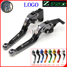 !Logo(Z750) Titanium For Kawasaki Z750 (not Z750S model) 2007 2008 2009 2010 2011 2012 CNC Motorcycle Brake Clutch Levers(China)