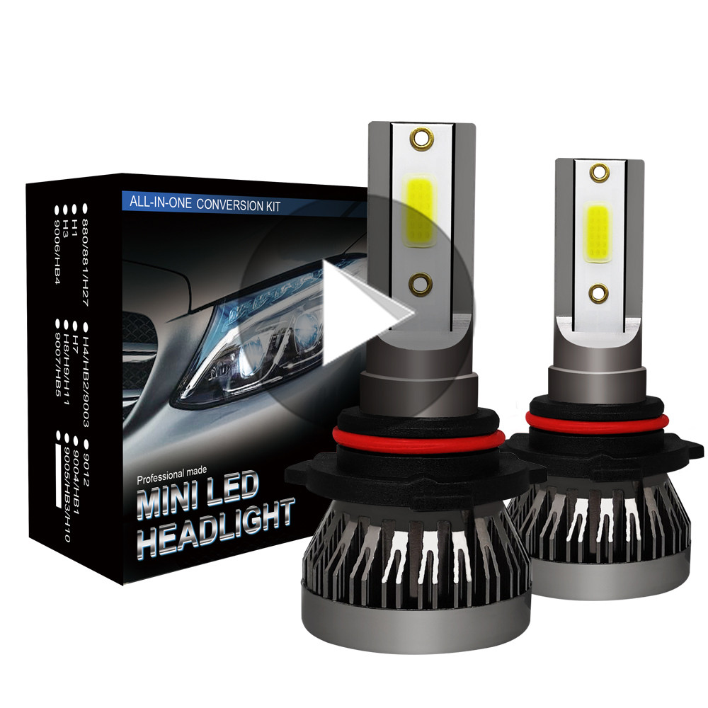 Pairs of  9005//9006//H1//H7//H11 Car Led Headlight Bulb Kit Bright COB 60W 6400LM