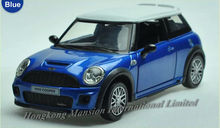 1:32 Scale Diecast Alloy Car Model For MINI Cooper S JCW Collection Model Pull Back Toys Car With Sound&Light - Blue/ Red/ Black