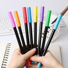 1 PC Watercolor Brush Pen Soft Brush Pen Colorful Dual Tip Art Markers Pen Markers Marker Touch Student Study Art Supplies