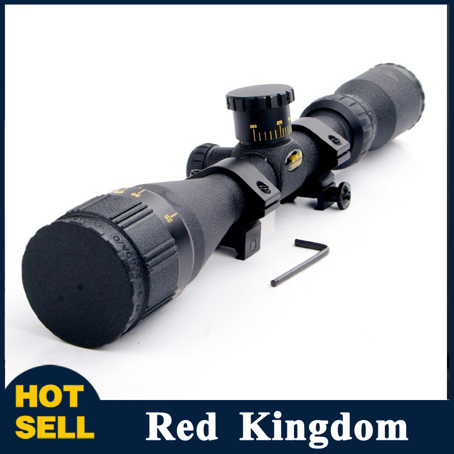 3-12x40AO Red and Green illuminated Duplex Crosshair Reticle Sniper Sight Hunting Rifle Scope with 20mm Weaver Mount<br><br>Aliexpress