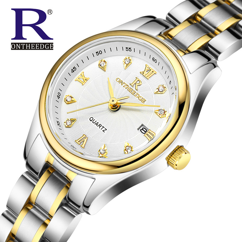 RON Fashion Quartz Watch Relogio Feminino Watches Women Dress Luxury Brand Diamonds Gold Bracelet Wristwatch montre femme<br><br>Aliexpress