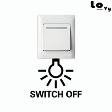 Save Electricity Switch Off Light Switch Sticker Creative Lamp Bulb Vinyl Wall Sticker for Kids Room Bedroom Home Decor