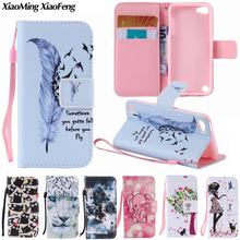 For Coque iPod Touch 6 Cover Case iPod Touch 5 Case Wallet Leather + Soft Silicone Phone Case For Apple iPod Touch 5 6 Case(China)