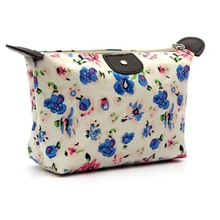 Cosmetic Bag Women Travel Make Up Pouch Flower Printting Clutch Handbag Purse Zipper Storage Bags Organizer 2017(China)
