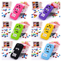 Cartoon M&M's Candy Soft Silicone Case For coque Samsung Galaxy S3 S4 S5 S6 S7 Edge A3 A5 A7 2015 J1 ACE J120 J3 J5 J7 2016 G530