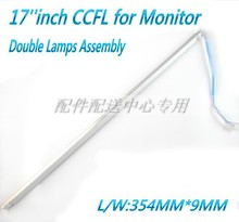 10pcs x Universal 17 inch CCFL Lamps for LCD Monitor with Frame  Backlight Assembly Double lamps 357mm*9mm Free Shipping
