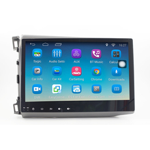 ChoGath(TM) 10.2'' 1.6GHz Quad Core RAM 1GB Android 6.1 Car Radio GPS Navigation Player for Honda Civic 2012-2015 with Canbus
