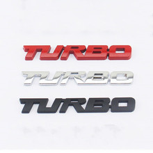3D Metal TURBO Emblem Car Styling Sticker Body Rear Tailgate Badge For Ford Focus 2 3 ST RS Fiesta Mondeo Tuga Ecosport Fusion(China)