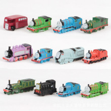 WEYA 12pcs/lot plastic Magnetic Thomas Circus Train Donald Lady Gordon and Friends Lorry Track Railway Vehicles Diecast Toy(China)