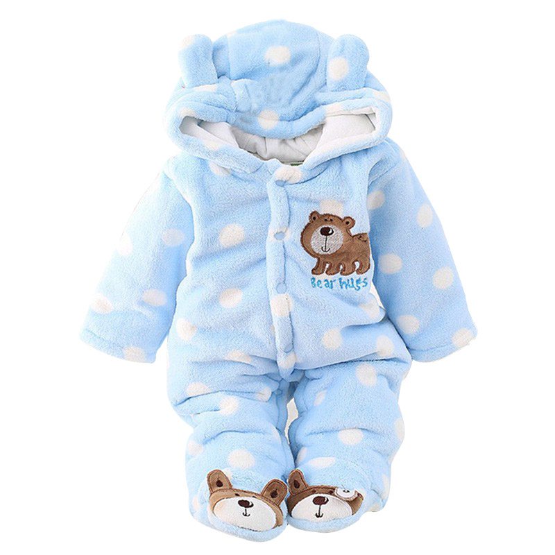 3 Color Animal Pattern Newborn Baby Romper Winter Outwear Outfits Clothes Sets Girls Boys Clothes 3-18M<br><br>Aliexpress