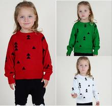 Campure Bobo Style Triangle Kids England Kit 2016 Autumn Winter 1-5Yrs Boys Girls Sweater Brand Red White Green Boys Clothes(China)