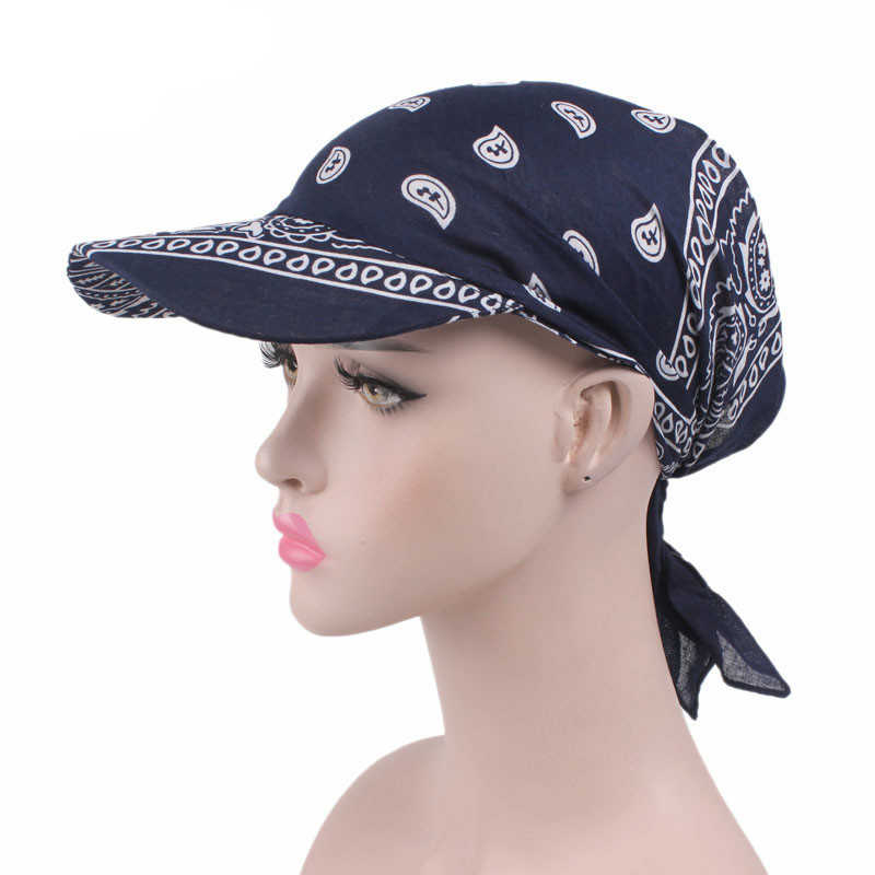 Women Prints Brim Bandanas Sun Hat Scarf Cap Chemo Hijab Turban Head Wrap  Cover Girls Chic 83cd137c0dae