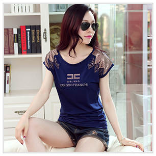 HTB1oSoFSpXXXXctXVXXq6xXFXXXB - Tee fashion O-neck tshirt women casual loose bat sleeve cotton T-shirt