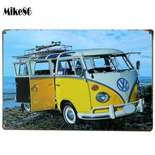 [ Mike86 ] VW Yellow Bus Metal Signs Bar Wall art Painting Vintage Craft Room Decor AA-97 Mix order 20*30 CM