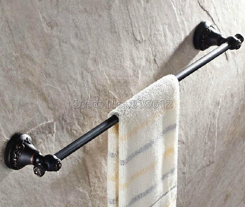 Bathroom Accessory Black Oil Rubbed Bronze Single Towel Bar Wall Mount Towel Rack Wba449<br>